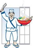 Cozinheiro chefe de Ramen Fotos de Stock