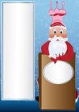Cozinheiro chefe de Santa Fotografia de Stock Royalty Free