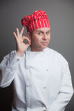 Cozinheiro chefe de sorriso Foto de Stock Royalty Free