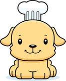 Cozinheiro chefe de sorriso Puppy dos desenhos animados Imagens de Stock Royalty Free