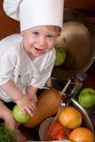 Cozinheiro chefe do bebê fotos de stock
