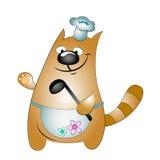 Cozinheiro chefe do gato Imagem de Stock