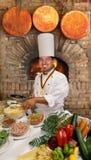 Cozinheiro chefe do gourmet fotografia de stock