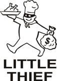 Cozinheiro chefe do ladrão com dinheiro Foto de Stock Royalty Free