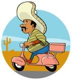 Cozinheiro chefe do mexicano da entrega Fotos de Stock