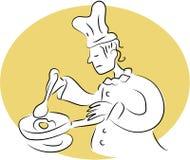 Cozinheiro chefe do pequeno almoço ilustração do vetor