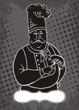 Cozinheiro chefe dos desenhos animados Fotos de Stock Royalty Free