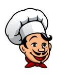 Cozinheiro chefe dos desenhos animados no toque Fotografia de Stock Royalty Free