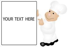 Cozinheiro chefe e sinal Fotos de Stock Royalty Free