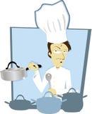 Cozinheiro chefe engraçado ilustração stock