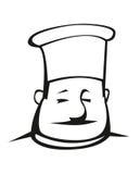 Cozinheiro chefe excesso de peso em um toque Fotografia de Stock