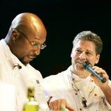 Cozinheiro chefe famoso JAKOB HAUSMANN na apresentação viva fotografia de stock royalty free