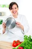 Cozinheiro chefe feliz imagem de stock