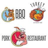 Cozinheiro chefe feliz In Toque dos desenhos animados Imagem de Stock Royalty Free