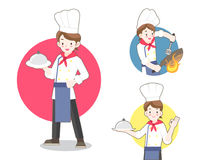 Cozinheiro chefe Flat Illustration ilustração do vetor