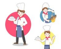 Cozinheiro chefe Flat Illustration Imagem de Stock Royalty Free
