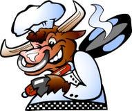 Cozinheiro chefe grande de Bull Foto de Stock Royalty Free