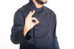 Cozinheiro chefe isolado no fundo branco Fotos de Stock