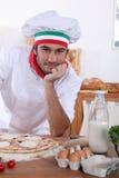 Cozinheiro chefe italiano Foto de Stock Royalty Free