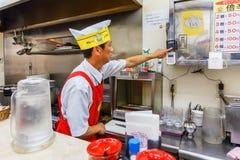 Cozinheiro chefe japonês do caril em Osaka Foto de Stock Royalty Free