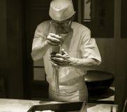 Cozinheiro chefe japonês do macarronete do Udon Fotos de Stock Royalty Free