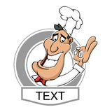 Cozinheiro chefe Logo do restaurante Imagem de Stock Royalty Free