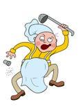 Cozinheiro chefe louco ilustração stock
