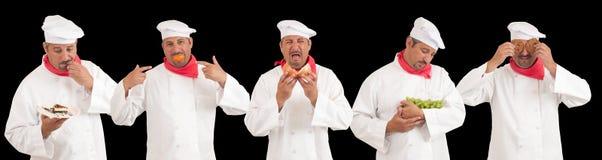 Cozinheiro chefe múltiplo Personalities Fotografia de Stock Royalty Free