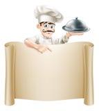 Cozinheiro chefe Menu Scroll Imagens de Stock Royalty Free