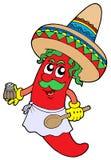 Cozinheiro chefe mexicano dos pimentões Imagem de Stock Royalty Free