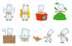Cozinheiro chefe minúsculo Angel ilustração do vetor