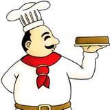 Cozinheiro chefe na ação Imagens de Stock Royalty Free