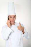 Cozinheiro chefe no fundo branco fotografia de stock royalty free