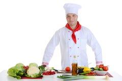 Cozinheiro chefe no restaurante fotos de stock royalty free