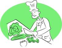 Cozinheiro chefe orgânico ilustração royalty free