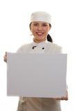 Cozinheiro chefe ou cozinheiro fotografia de stock