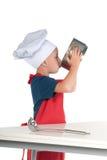 Cozinheiro chefe pequeno com fome Foto de Stock Royalty Free