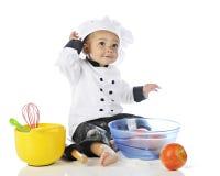 Cozinheiro chefe pequeno feliz Imagens de Stock Royalty Free