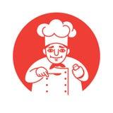 Cozinheiro chefe que olha amigável Imagens de Stock Royalty Free