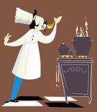 Cozinheiro chefe que prova o alimento Imagem de Stock
