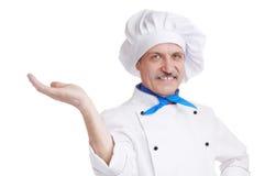 Cozinheiro chefe sênior Imagens de Stock Royalty Free
