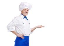 Cozinheiro chefe sênior fotos de stock