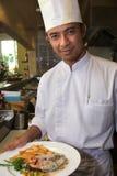 Cozinheiro chefe sênior Fotografia de Stock Royalty Free