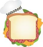 Cozinheiro chefe Sandwich fotografia de stock