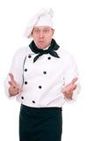 Cozinheiro chefe Scared fotografia de stock royalty free