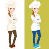 Cozinheiro chefe seguro Woman Standing Imagem de Stock