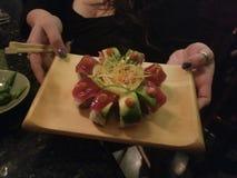 Cozinheiro chefe Special Sushi Suprise foto de stock