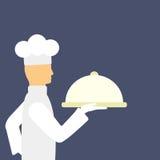 Cozinheiro com alimento Imagem de Stock Royalty Free