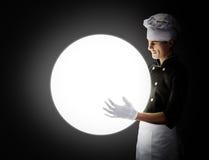 Cozinheiro com ESFERA rendição 3D e foto De alta resolução Fotos de Stock