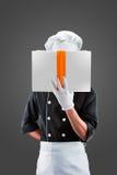 Cozinheiro com LIVRO rendição 3D e foto De alta resolução Fotos de Stock Royalty Free